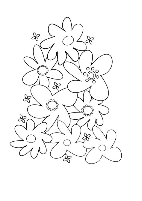 coloring pages of flowers flower coloring pages