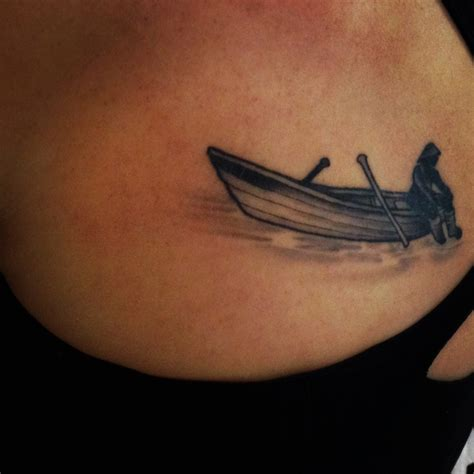 Boat Tattoo by Dory Tattoo Newfoundland Fisherman Tatts Pinterest