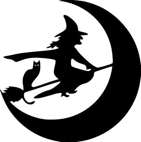 witch broom moon cat halloween vinyl decal vinyl decal