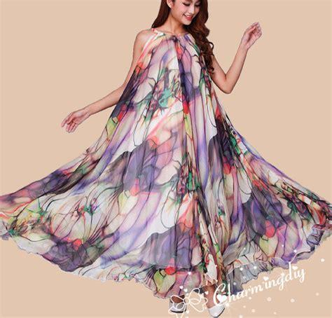 blumen lange blütezeit 60 farben chiffon blumen lange kleid abend hochzeit