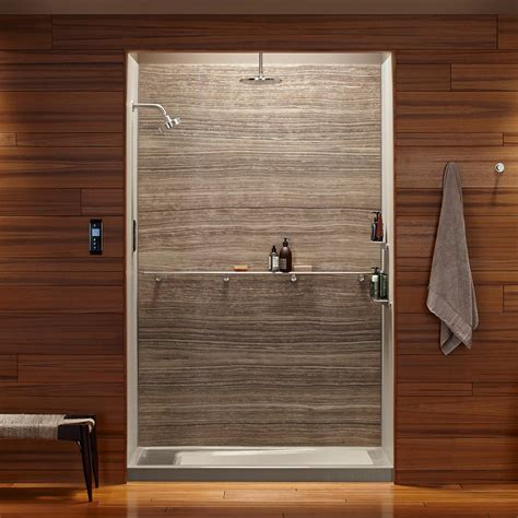 What Are Shower Walls Made Of - kohler k 97618 w09 choreograph 60 quot x 32 quot x 72 quot shower wall