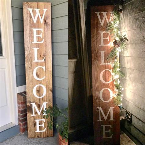 wood sign  tall knot  nest designs
