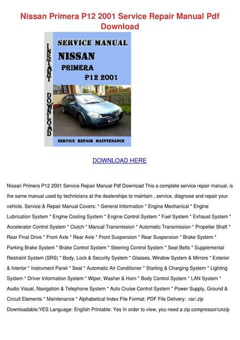 motor auto repair manual 2002 honda pilot instrument cluster nissan primera p12 2001 service repair manual by debrachadwick issuu