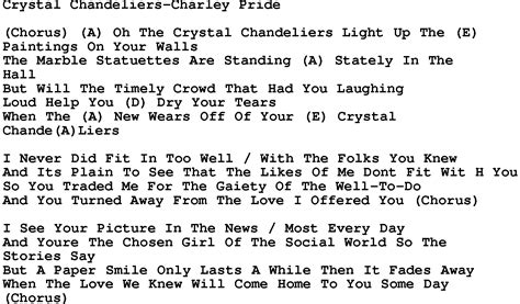 country chandeliers pride lyrics and
