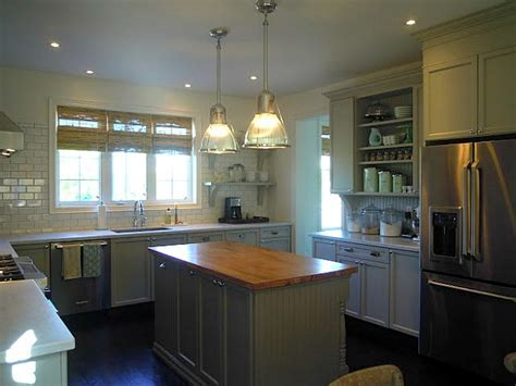 "A Builder Basic Kitchen Goes ""Bedford Gray""   Hooked on Houses"