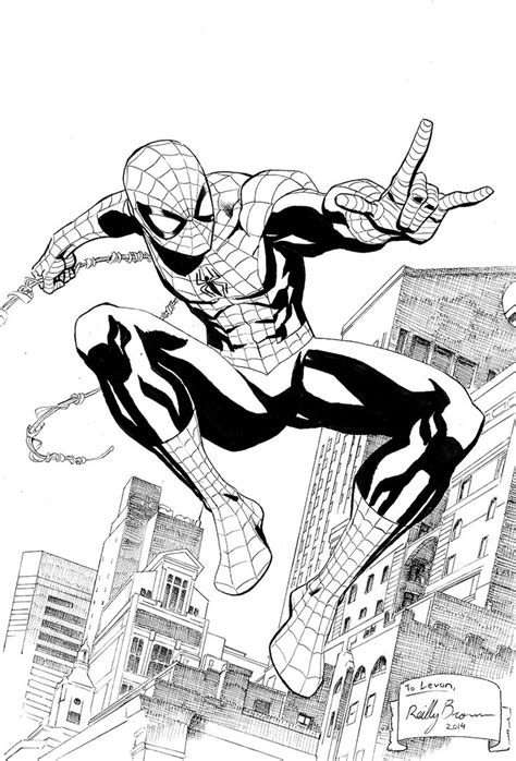 reillybrown heres  drawing  spider man  art