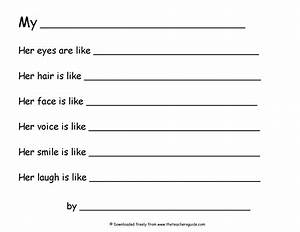 16 best images of simile worksheets 2nd grade simile and With poetry templates for kids