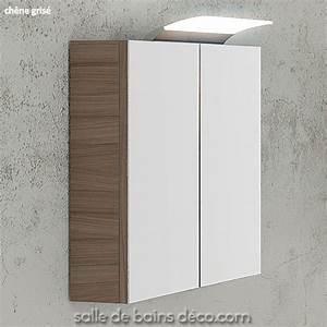 Miroir Salle De Bain Rangement : armoire salle de bains miroir meuble suspendu 60cm achat vente sur ~ Teatrodelosmanantiales.com Idées de Décoration
