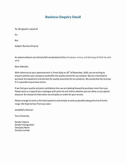 Letter Email Format Sample Business Formal Writing