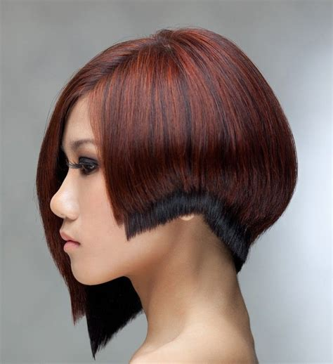 And Black Two Tone Hairstyles by Asymmetric Two Tone Bob Hair Hair Hair Styles High