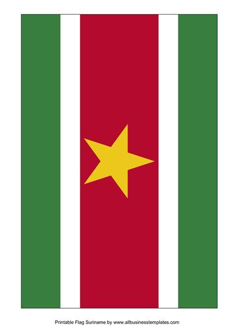 suriname printable flag templates