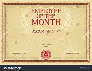 employee of the month certificate template with picture - employee of the month certificate template stock vector