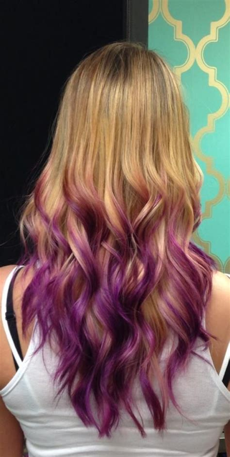 We Did Some Fun Orchid Purple Ombré Dipped Tips Look On