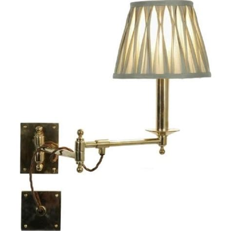 traditional adjustable swing arm wall light for bed