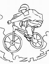 Coloring Pages Mountain Printable Sports Bmx Bike Adults Coloriage Bicyclette Biking Sport Colouring Imprimer Velo Kindergarten Sheets Print Dessin Sheet sketch template