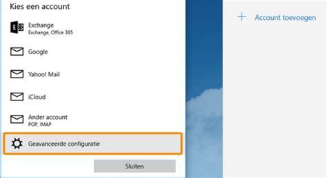 E-mail Instellen In Mail (windows 10)