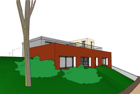 Plan D'architecte Pour Une Maison Semi-enterrée Sur Un