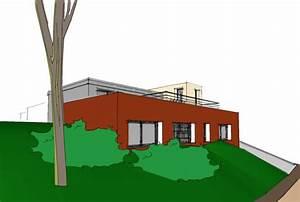 Maison Semi Enterrée : plan d 39 architecte pour une maison semi enterr e sur un ~ Voncanada.com Idées de Décoration