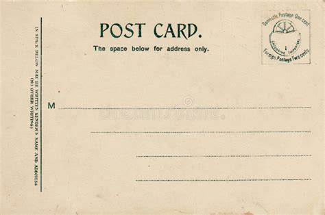 nautical postcard template lined blank vintage postcard stock image image 1590461