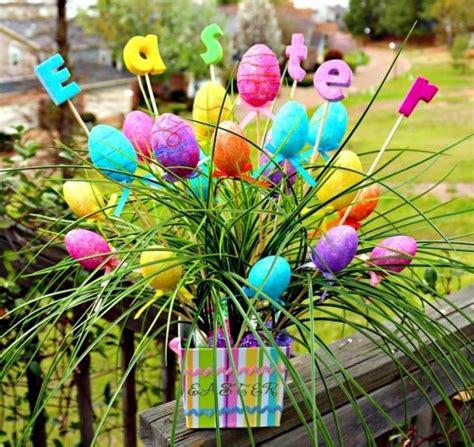 outdoor easter decorations  ideas   garden