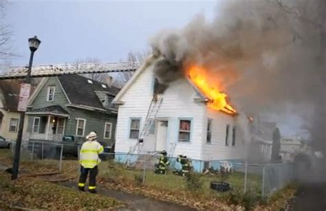 raw video house fire  rochester ny statter