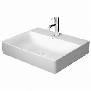 Waschbecken 60 X 60 : duravit durasquare waschtisch mit hahnloch 60 x 47 cm 2353600041 megabad ~ Indierocktalk.com Haus und Dekorationen