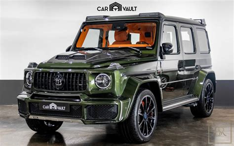 Brabus leather nappa cuoio brown engine: New 2020 Mercedes G class G700 Brabus green for sale | For Super Rich