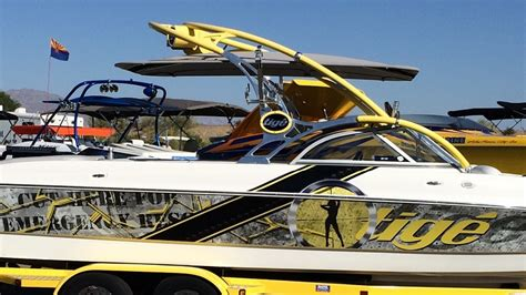 Yellow Boat Wraps by Boat Wraps And Vehicle Wraps From In Stitches Customs