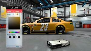 NASCAR '14 Game Custom Paint Booth - YouTube