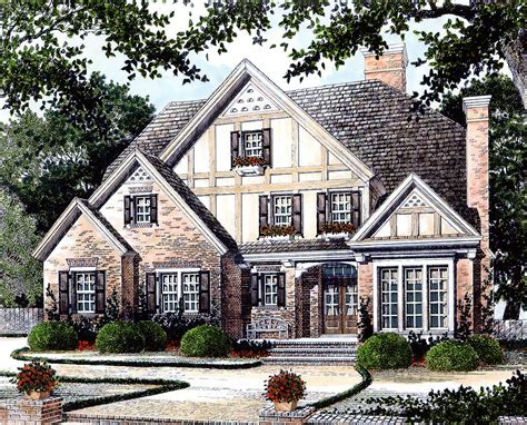 english manor home plan ad architectural designs house plans
