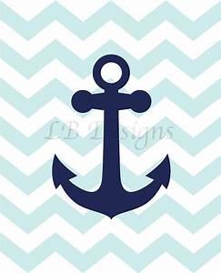 Anchor Nursery Print, Navy Blue and Baby Blue Nursery, Boy ...