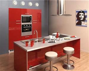 cuisine rouge mur couleur lin et apres With ordinary peinture couleur gris taupe 12 cuisine rouge mur couleur lin et apras