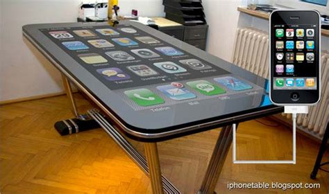 the bureau gameplay table connect multitouch iphone desk