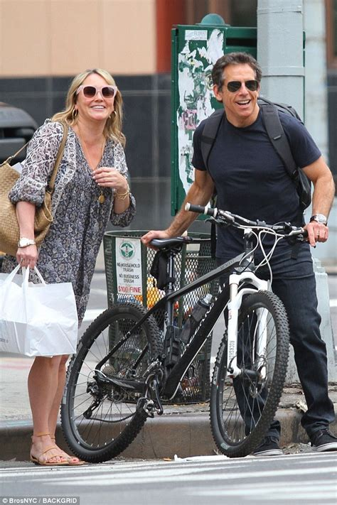 ben stiller  christine taylor reunite  ny