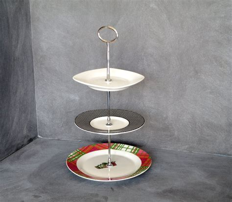 tiered plate stand  tier collapsible thicker sturdier plate rack stand  plates