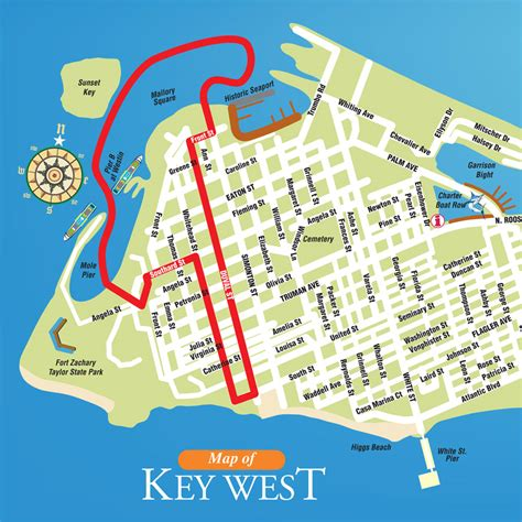 maps update 700654 key west tourist attractions map 16