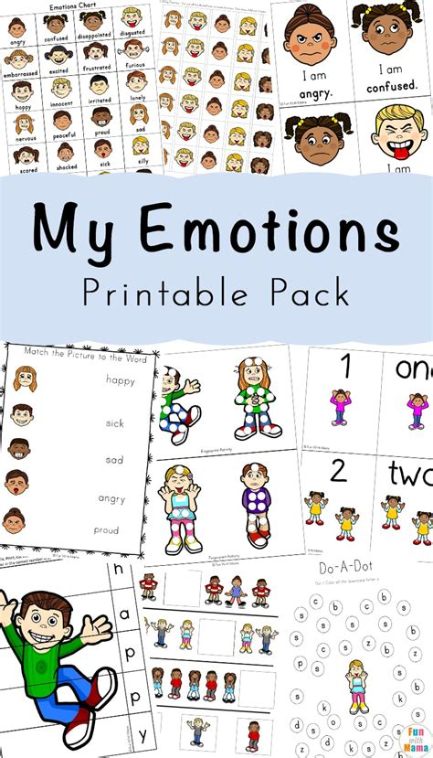 feelings activities emotions worksheets for with