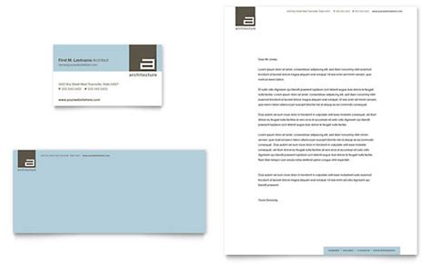 architect business card letterhead template word