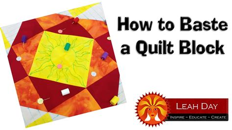 how to baste a quilt how to baste a quilt block