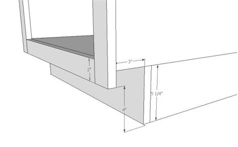 kitchen cabinet toe kick height frame and toe kick question woodworking