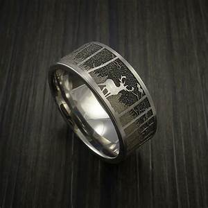 men s deer hunting wedding bands mini bridal With deer antler mens wedding rings