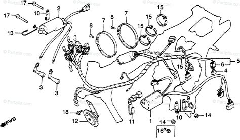 honda motorcycle 1982 oem parts diagram for wire harness ignition coil c d i unit