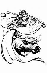 Matador Drawing Quickly Vollmer Joel April Approaching Getdrawings sketch template