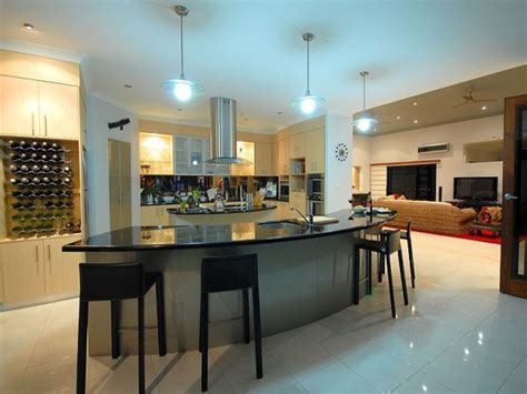 divine modern kitchen designs  curved kitchen island