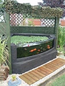 Bassin De Jardin Pour Poisson : bassin carpe koi hors sol id es de ~ Premium-room.com Idées de Décoration