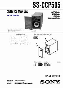 Sony Cmt-cp505md  Ss-ccp505 Service Manual