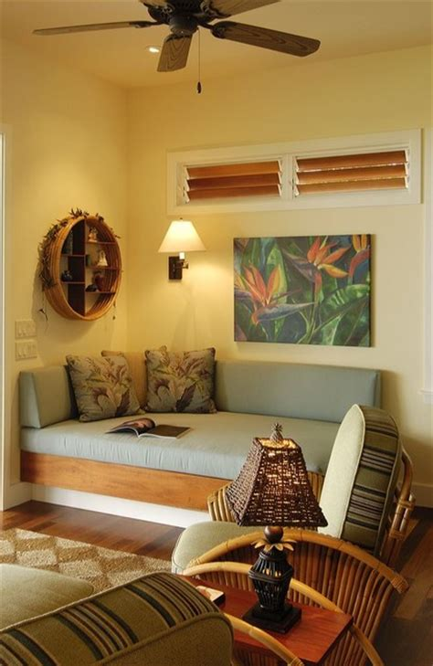 retro hawaii beach cottage tropical family room