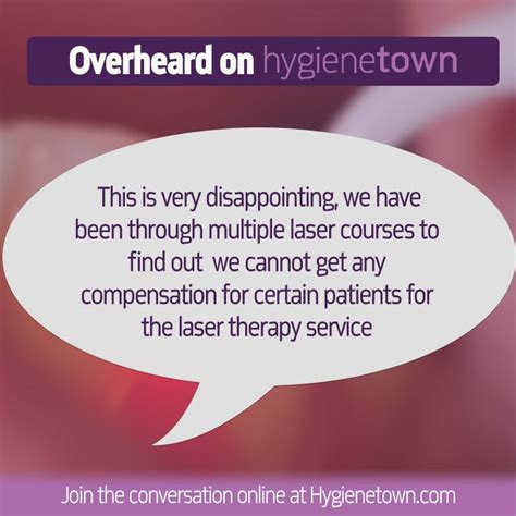 If you don't have insurance, your plan doesn't cover mental health services, you can't find a therapist in your network accepting new patients, or you can't afford the copayments or. Hygienetown message boards - Coding for Periodontal Laser Therapy, Insurance disallowing ...