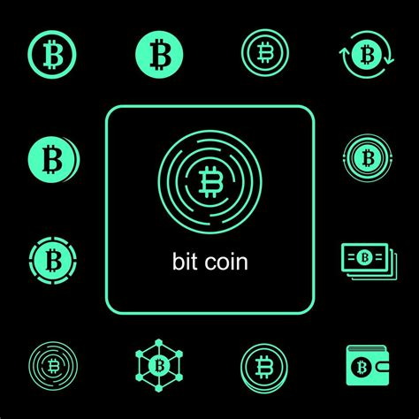 105 editable vector icons for cryptocurrency and bitcoin projects. Bitcoin icon set - Download Free Vectors, Clipart Graphics & Vector Art