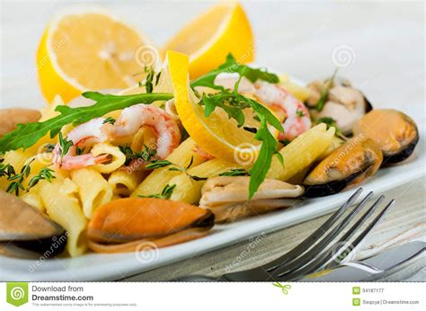 limoner cuisine shrimp and lemon mediterranean cuisine royalty free stock